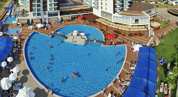 CENGER BEACH RESORT 5* viešbutis Turkijoje
