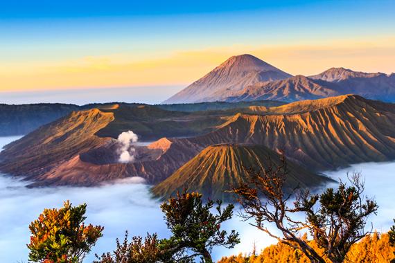 Bromo ugnikalnis saulėlydžio metu