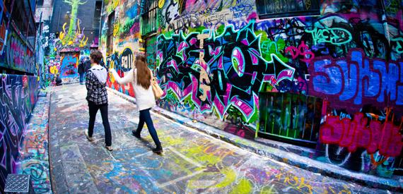 Gatvės menas Melburne, Australijoje