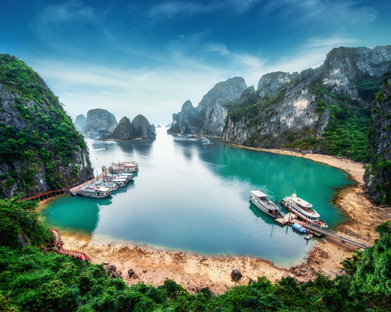 Halongo įlanka Vietname