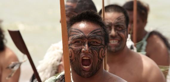 Maori genties atstovai