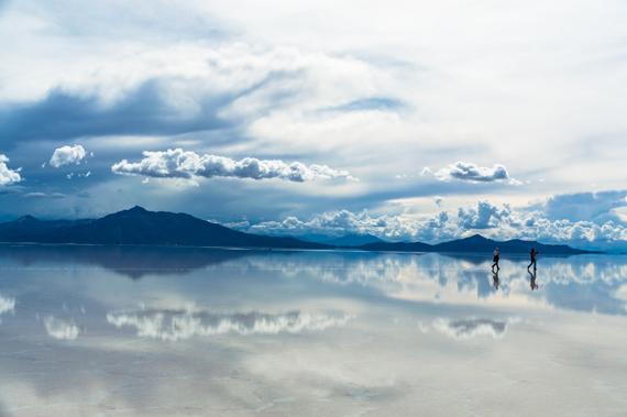 Salar de Uyuni druskos ežeras Bolivijoje