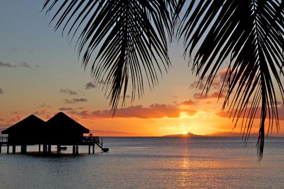 Saulėlydis Bora Bora saloje