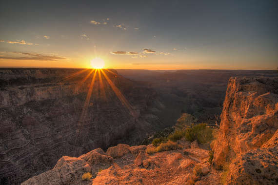 Saulėlydis Didžiajame Kanjone