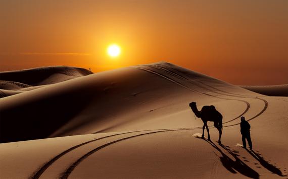 Saulėlydis Sacharos dykumoje