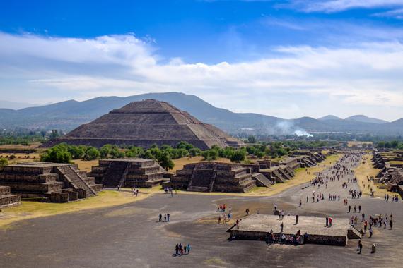 Saulės šventykla Teotihaukane, Meksikoje