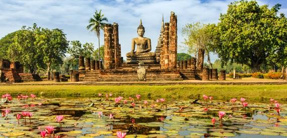 Sukhothai miestas - Tailando širdis