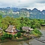 Vang Vieng miestelis Laose