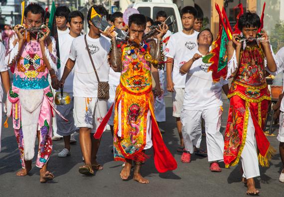 Vegerarų festivalis Tailande