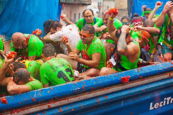 Raudonoji pomidorų šventė Ispanijoje
